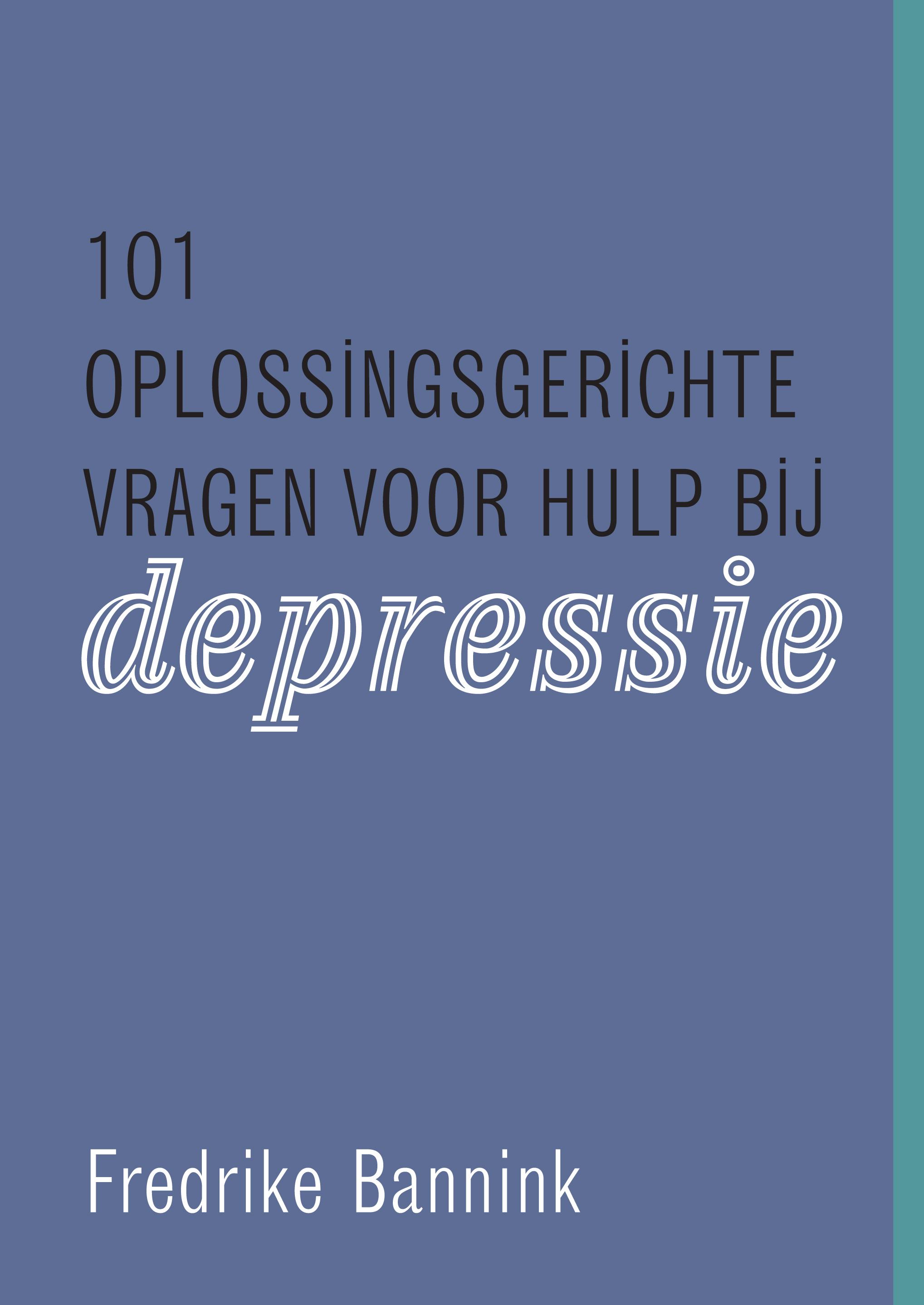 Cover image 101 oplossingsgerichte vragen voor hulp bij depressie